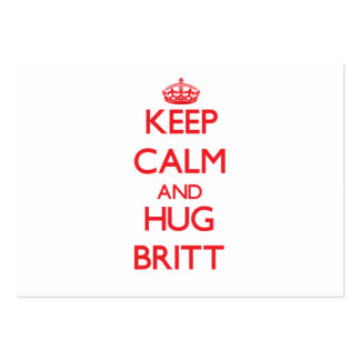 Keep calm and Hug Britt Business Card Template