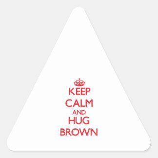 Keep calm and Hug Brown Sticker