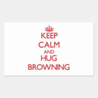 Keep calm and Hug Browning Sticker