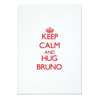 Keep Calm and HUG Bruno 5x7 Paper Invitation Card