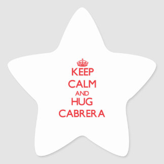Keep calm and Hug Cabrera Stickers