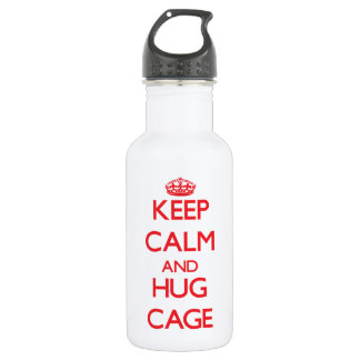 Keep calm and Hug Cage 18oz Water Bottle