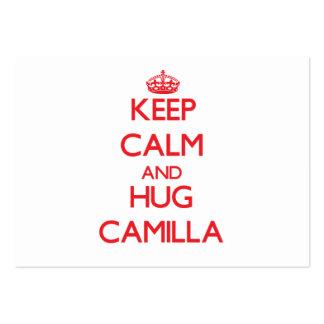 Keep Calm and Hug Camilla Business Cards
