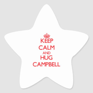 Keep calm and Hug Campbell Star Stickers