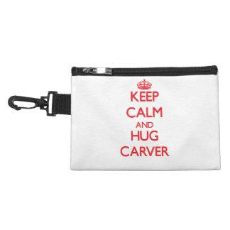 Keep calm and Hug Carver Accessory Bag