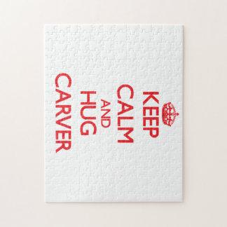Keep calm and Hug Carver Puzzles