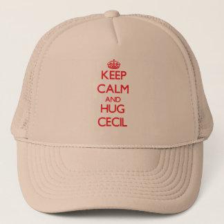 Keep Calm and HUG Cecil Trucker Hat