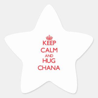 Keep Calm and Hug Chana Star Sticker