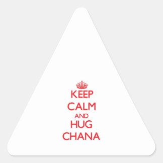 Keep Calm and Hug Chana Triangle Sticker