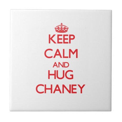 Keep calm and Hug Chaney Ceramic Tiles