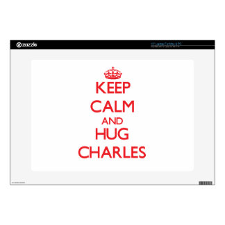 Keep calm and Hug Charles Decals For Laptops
