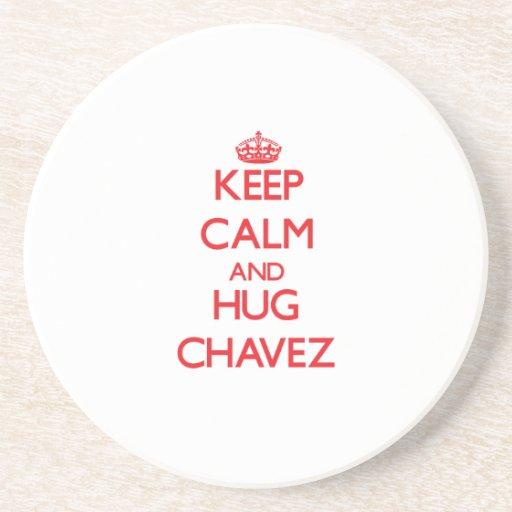 Keep calm and Hug Chavez Beverage Coaster