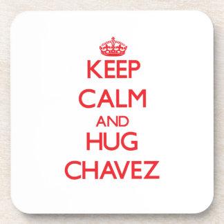 Keep calm and Hug Chavez Coaster