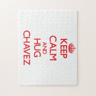 Keep calm and Hug Chavez Puzzles