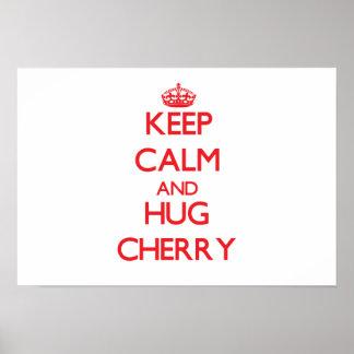 Keep calm and Hug Cherry Poster