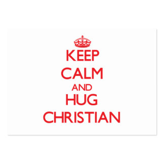 Keep calm and Hug Christian Large Business Cards (Pack Of 100)