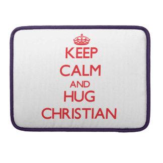 Keep calm and Hug Christian Sleeves For MacBooks