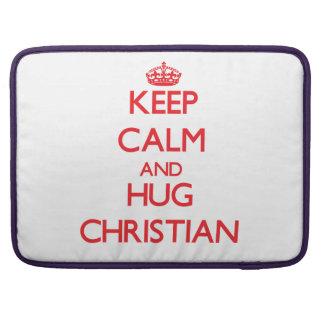 Keep calm and Hug Christian MacBook Pro Sleeve