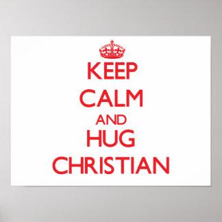 Keep calm and Hug Christian Print