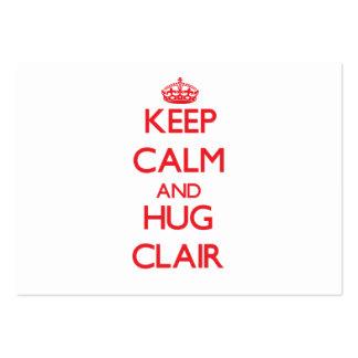 Keep Calm and HUG Clair Business Card Templates