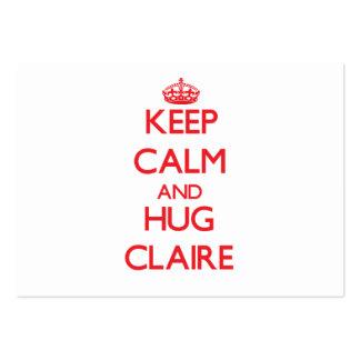 Keep Calm and Hug Claire Business Card