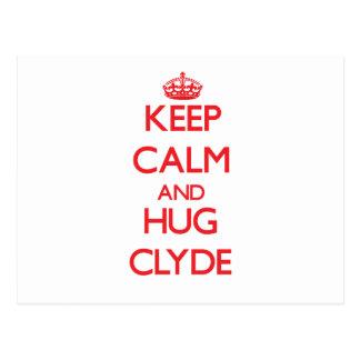 Keep Calm and HUG Clyde Postcard