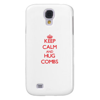 Keep calm and Hug Combs Samsung Galaxy S4 Case