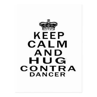 Keep calm and hug Contra Dancing Postcard
