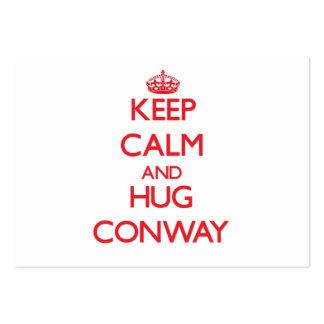 Keep calm and Hug Conway Business Card