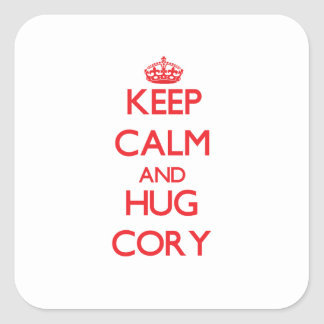 Keep Calm and HUG Cory Stickers