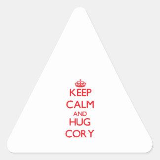 Keep Calm and HUG Cory Sticker