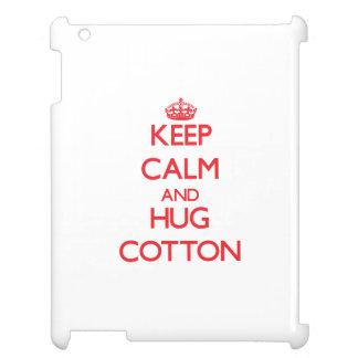 Keep calm and Hug Cotton iPad Case