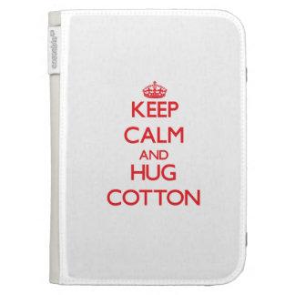Keep calm and Hug Cotton Kindle Keyboard Covers