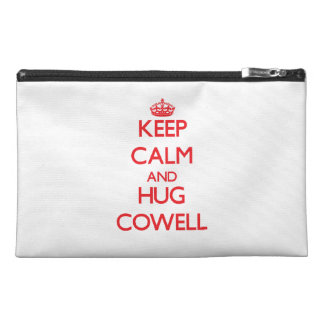 Keep calm and Hug Cowell Travel Accessory Bags