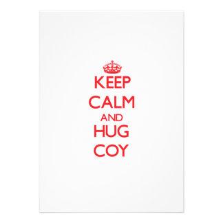Keep Calm and HUG Coy Invitations