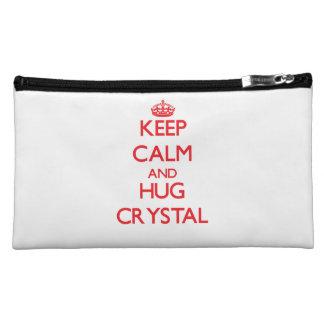 Keep calm and Hug Crystal Makeup Bag