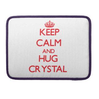 Keep calm and Hug Crystal Sleeves For MacBooks