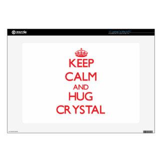"""Keep calm and Hug Crystal Skins For 15"""" Laptops"""