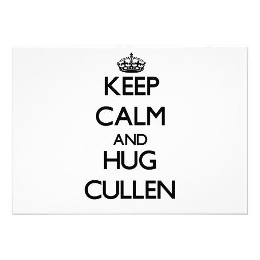 Keep Calm and Hug Cullen Custom Invitation