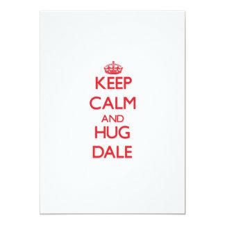 Keep calm and Hug Dale 5x7 Paper Invitation Card