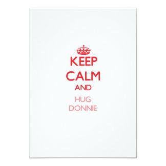 Keep Calm and HUG Donnie Invitation