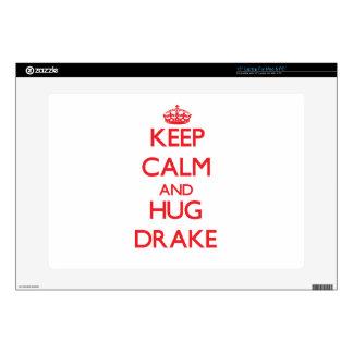"Keep calm and Hug Drake 15"" Laptop Decals"