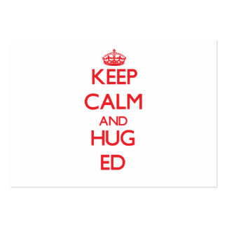 Keep Calm and HUG Ed Large Business Cards (Pack Of 100)