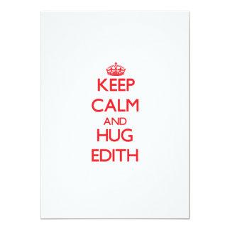 Keep Calm and Hug Edith 5x7 Paper Invitation Card