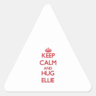 Keep Calm and Hug Ellie Triangle Stickers