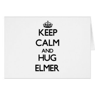Keep Calm and Hug Elmer Stationery Note Card