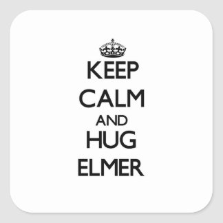 Keep Calm and Hug Elmer Stickers