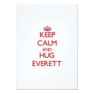 Keep calm and Hug Everett 5x7 Paper Invitation Card