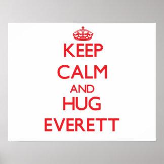 Keep calm and Hug Everett Poster