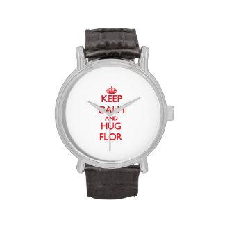 Keep Calm and Hug Flor Wristwatch